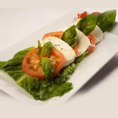 Caprese with Fresh Mozzarella and Basil Salad